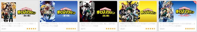 ヒロアカシリーズ U-NEXTで視聴できる一覧リスト