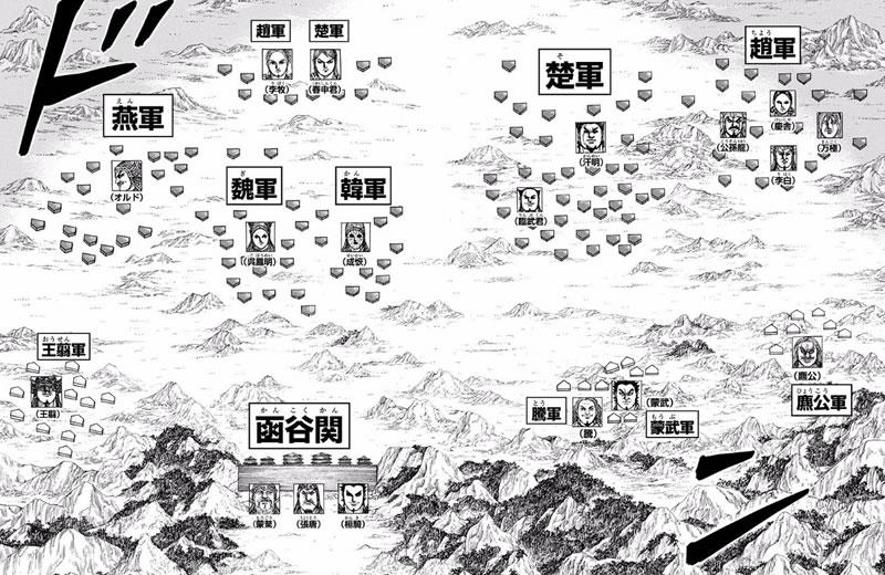 函谷関の配置図