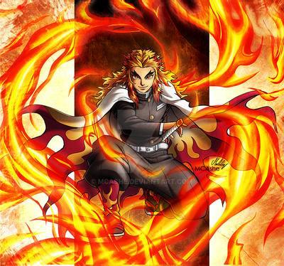 炎の呼吸を使う煉獄杏寿郎